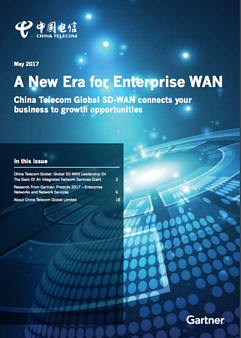 China Telecom A New Era for Enterprise WAN Gartner Report